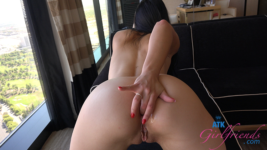 You splattered her pussy with a creampie after the anal entry